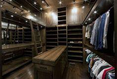 Top 100 Best Closet Designs For Men - Part Two Walk In Closet Design, Closet Designs, Bedroom Designs, Rustic Closet, Men Closet, Barn House Plans, Luxury Closet, Dream Closets, Master Closet