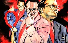"""Jim Cornette - Ink and watercolor on 18"""" x 12"""" watercolor paper"""