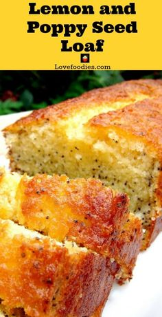 Lemon and Poppy Seed Loaf! This is truly a delightful cake. The flavours are gentle, the cake is soft and moist and of course looks so pretty with the addition of poppy seeds sprinkled throughout the cake. via @lovefoodies