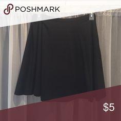 Women's Skirt black skater skirt LC Lauren Conrad Skirts Circle & Skater