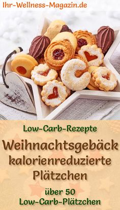 Low Carb Weihnachtsplätzchen backen – 90 einfache Rezepte ohne Zucker Baking Low Carb Christmas Cookies: Delicious Recipes for Christmas Cookies – low in carbohydrates, low in calories, without cornmeal and sugar … carb bake free Low Carb Sweets, Low Carb Desserts, Low Carb Recipes, Diet Desserts, Free Recipes, Easy Cookie Recipes, Baking Recipes, Simple Recipes, Tasty