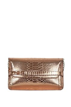 Seal Beach Python Clutch from Cashhimi