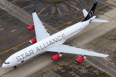 "Scandinavian Airlines System (SAS) Airbus A340-313 ""Star Alliance LogoJet"""