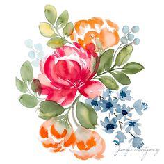 Watercolor Flowers, Watercolor Paintings, Painting Flowers, Watercolors, Peony Drawing, Painting & Drawing, Watercolor Projects, Pretty Drawings, Watercolor Effects