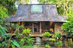 Bambu Indah, Ubud Picture: Bambu Indah, near Ubud - Check out TripAdvisor members' candid photos and videos of Bambu Indah Tropical Houses, Tropical Garden, Cabana, Bali, Treehouse Cabins, Porches, Timber Architecture, Swedish Decor, Thai House