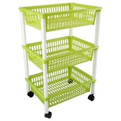 4 Tier Plastic Trolley Multi Purpose Storage Rack Shelf Home Office ...