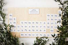Periodic Table decor for your wedding!