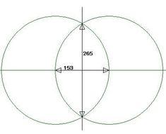 ヴェシカパイシスは誕生の初めの分裂です創造のエネルギーに溢れています~~ここからフラワーオブライフからの引用です直径を等しくする2つの円が、お互いの円の中心が…