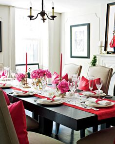 Kate Spade china and dinner napkins - Photos of a Thai-Themed Party - Get More Entertaining Tips and Recipes