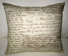 Antique French Writing Pillow Shabby Chic by frenchcountrydesigns, $15.99