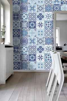 Apply this Blue Portuguese Tiles Stickers in any flat surface. If you are looking for a piece of art, Blue Portuguese Tiles is the perfect choice.