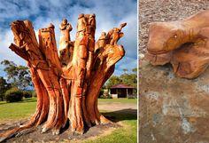 DARTMOOR, arte creado con árboles