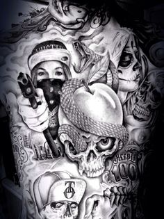 gangster tattoos - Google Search