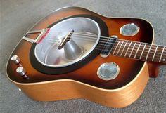 resonator made from a cake pan.