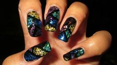 Stained glass nails...very pretty