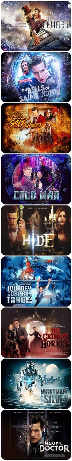 Season 7 part two posters. Doctor Who.