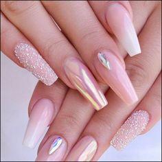 67 acrylic nail designs of glamorous ladies of the summer season 24 ~ IRMA nailsdesign nailsart acrylicnail Light Pink Nail Designs, Light Pink Nails, Sky Nails, Turquoise Nail Designs, Nail Pink, Best Acrylic Nails, Acrylic Nail Designs, Nail Art Designs, Perfect Nails