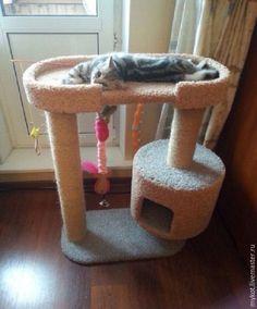 Diy Cat Tower, Cat Tree Plans, Cat Playhouse, Cat Gym, Cat Tree House, Dog Stroller, Cat Towers, Diy Dog Bed, Cat Stands