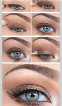 22 Eye Make-up Tutorial step by step The daily natural look . - 22 Eye Makeup Tutorial step by step The daily natural look is simple and uncomplicated - Simple Eye Makeup, Blue Eye Makeup, Fall Makeup, Smokey Eye Makeup, Natural Makeup, Smokey Eyeshadow, Eyeshadow Brushes, Makeup Eyeshadow, Korean Eyeshadow