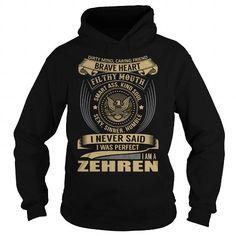 I Love ZEHREN Last Name, Surname T-Shirt T shirts