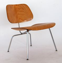 Eames for Herman Miller Early Evans Plywood Vintage Birch Molded Plywood LCM Lounge Chair