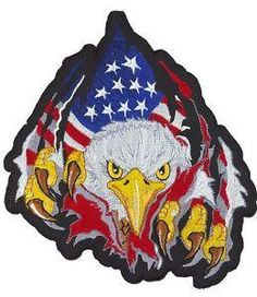 Rip N Tear Eagle Highly detailed designs to customize your garments from leather jackets to denim vests Heat sealed backing for iron on application Sower friendly border for leather application Approximate Image Size x Custom Embroidered Patches, Denim Vests, Patches For Sale, Biker Patches, Pinstriping, Baby Car Seats, Eagle, Iron, Christmas Ornaments