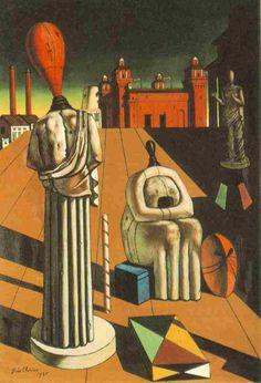 'Les Muses inquiétantes', huile de Giorgio De Chirico (1888-1978, Greece)