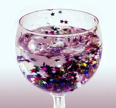 Imagen de glitter, stars, and drink