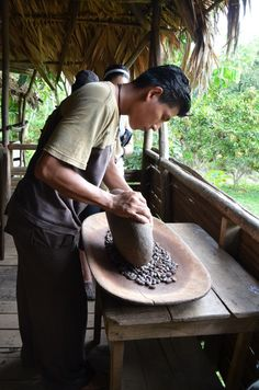 Making chocolate with Bribri in Costa Rica