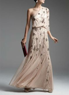 A beaded beauty for your next event | Gown by Adrianna Papell.  Omg stop. #obsessed.