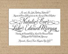 DIY Printable Wedding Invitation by sandalwoodart on Etsy, $45.00