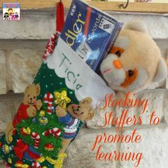 Stockings are a fun part of Christmas, and it can be a challenge to find stocking stuffers that aren't junk or more candy. Here's a great list of stocking stuffers to promote learning