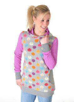 Schnittmuster für einen kuscheligen Hoodie / diy sewing instruction: comfy and trendy hoodie by Miou Miou via DaWanda.com