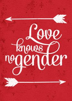 Love knows no gender greeting card.