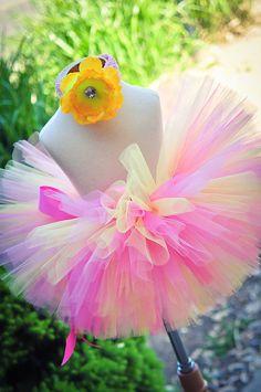 Birthday Tutu Pink Lemonade Sewn Tutu and by TrinitysTutus on Etsy, $25.00