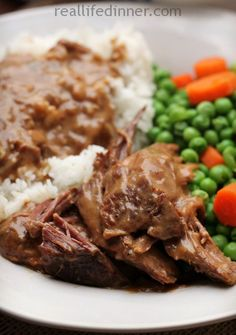 Take 10 minutes in the morning to throw this in the crock pot and come dinner time you will be so glad you did! So Tender and DELICIOUS, and it even makes it's own gravy. Workman's Roast | reallifedinner.com