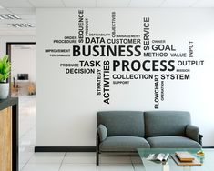 Etsy :: Your place to buy and sell all things handmade Office Wall Decals, Office Walls, Rental Space, Teacher Signs, Office Quotes, Wall Colors, House Colors, Home Office Decor, Textured Walls