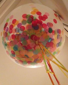 36 Inches Latex Balloon  Clear with Confetti by BalloonUp on Etsy, $17.00