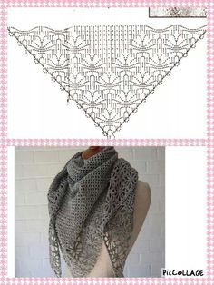 Exceptional Stitches Make a Crochet Hat Ideas. Extraordinary Stitches Make a Crochet Hat Ideas. Crochet Shawls And Wraps, Knitted Shawls, Crochet Scarves, Crochet Clothes, Crochet Diy, Love Crochet, Beautiful Crochet, Crochet Diagram, Crochet Chart
