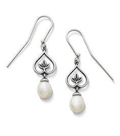 Cultured Pearl Vine Ear Hooks in Sterling Silver   James Avery