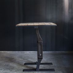 ATELIER Single Cast Iron Leg Square Table