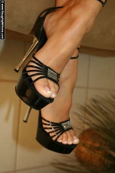 Love these strappy black heels