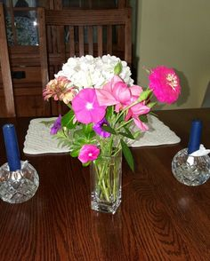 Late summer garden to table flowers