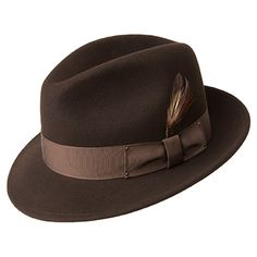 1930s Mens Hat Fashion Bailey Blixen - Soft Wool Felt Fedora Hat $88.00 AT vintagedancer.com