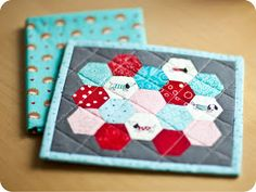 little girl quilts: Scrappy Mug Rug Swap 3
