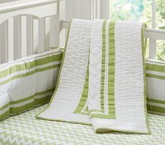 Harper Green Nursery Bedding #pbkids