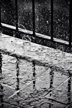 Rain | Rainy day out the window on the balcony