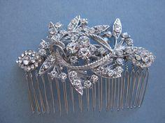Vintage Inspired Bridal hair combCrystal wedding by ChantalEveleen, $42.00