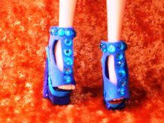 blue gem shoe made of foam, styro & sticky gems