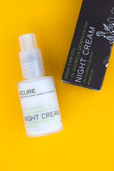 Cold Weather Skincare: Acure Organics Night Cream via Pemberley Jones Organic Beauty, Organic Skin Care, Acure Organics, Growth Factor, Thing 1, Going Natural, Green Cleaning, Clean Beauty, Pure Products